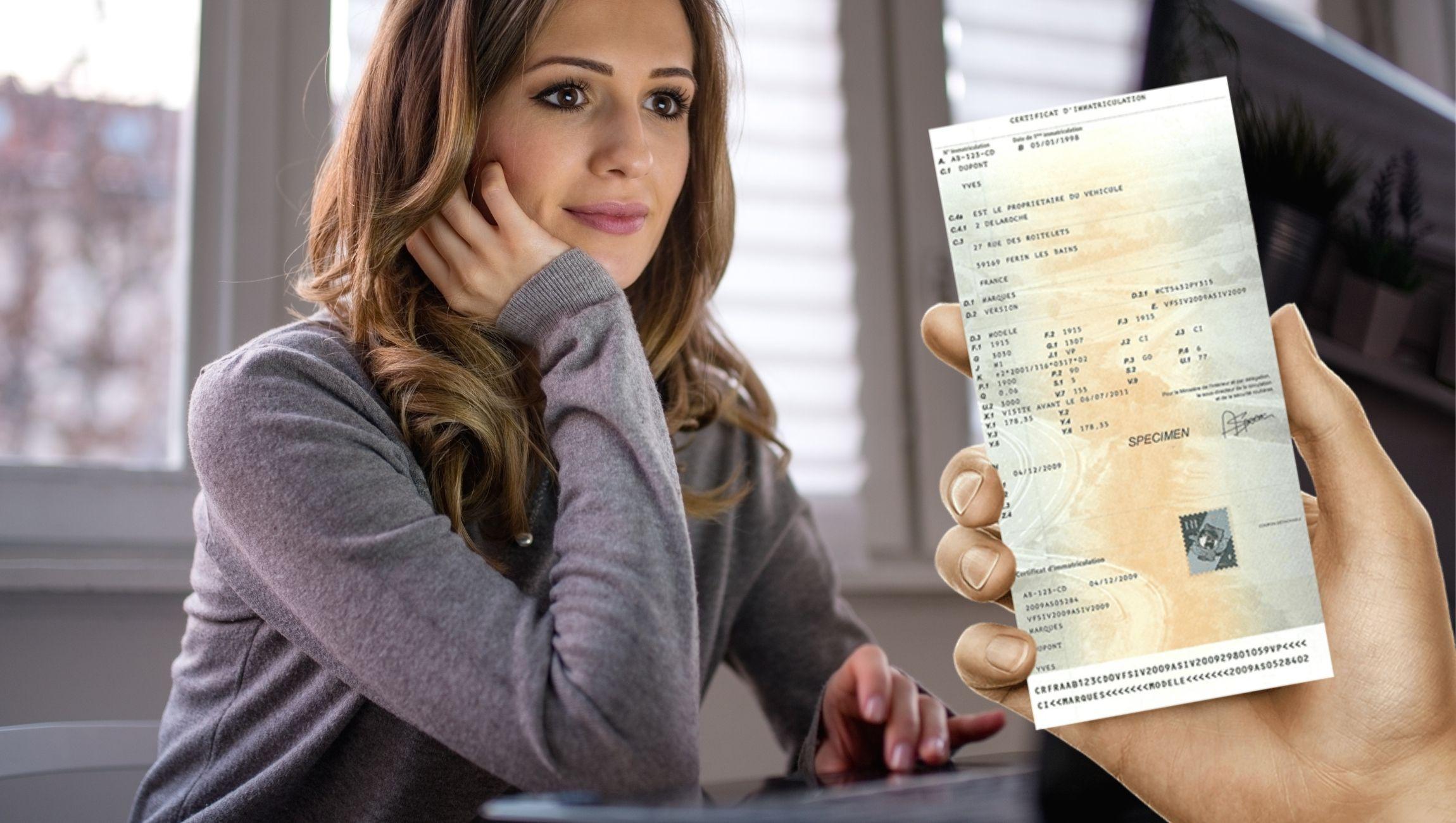 Déclaration de perte carte grise véhicule de société / entreprise / professionnel