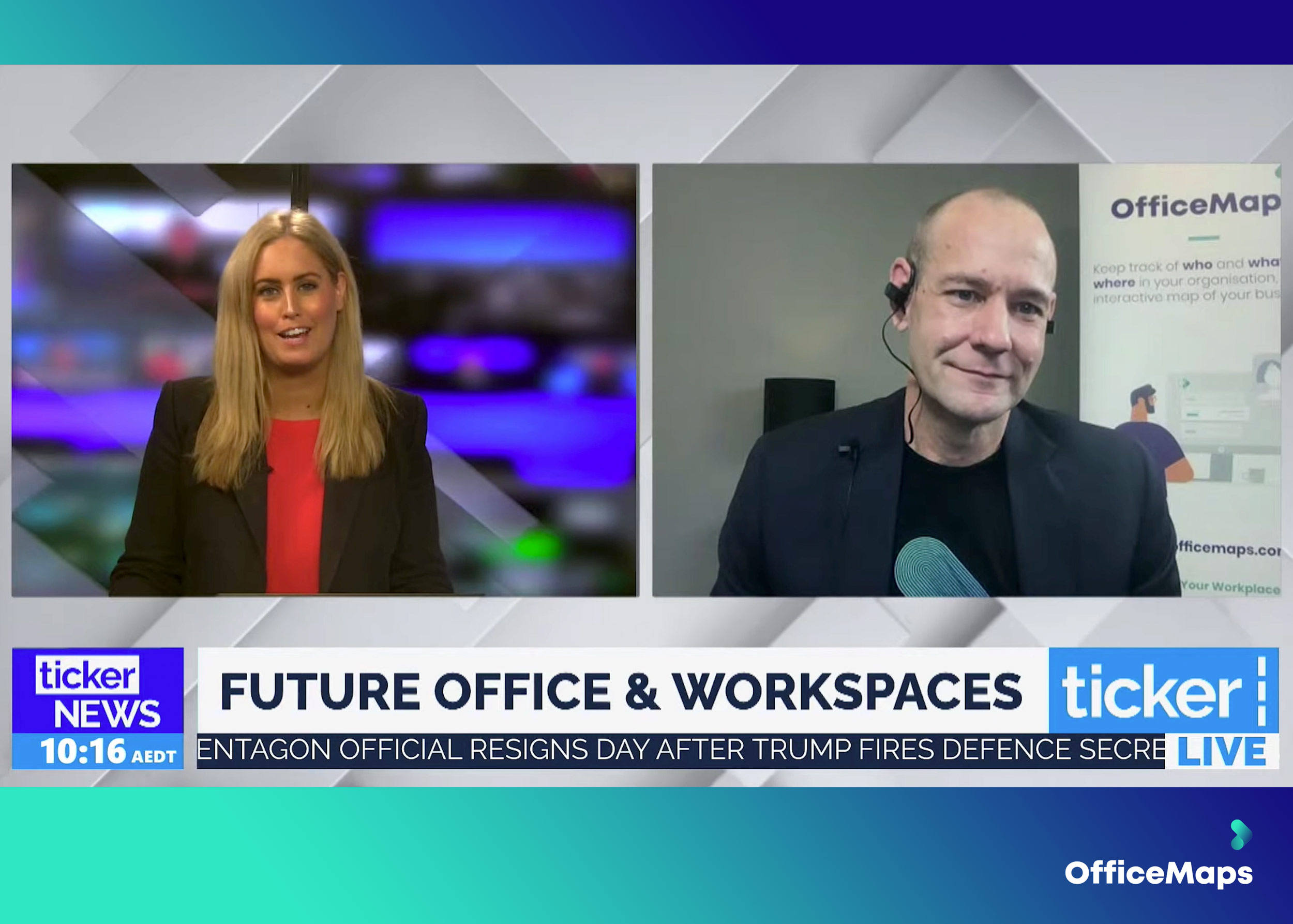 ticker tv and officemaps cxo discuss the future of work hotdesking the future office and safe space management