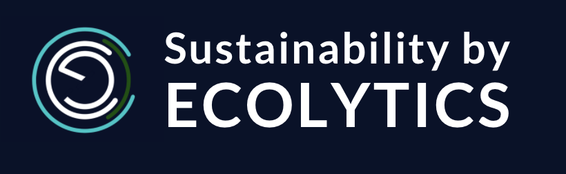 Sustainability by Ecolytics  badge for clients to put on their websites