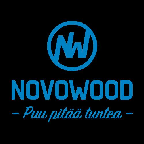 Novowood logo värillisenä versiona