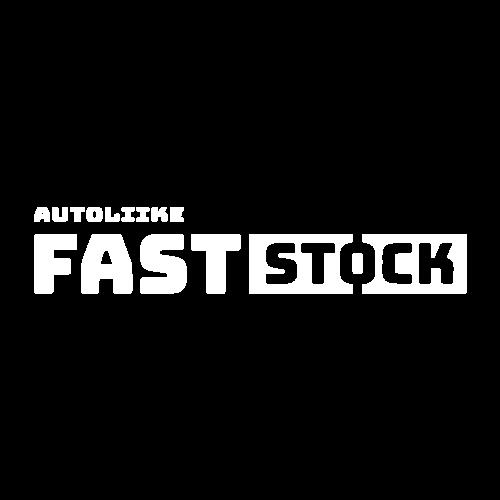 Faststock logo vaaka ja negatiivisenä versiona