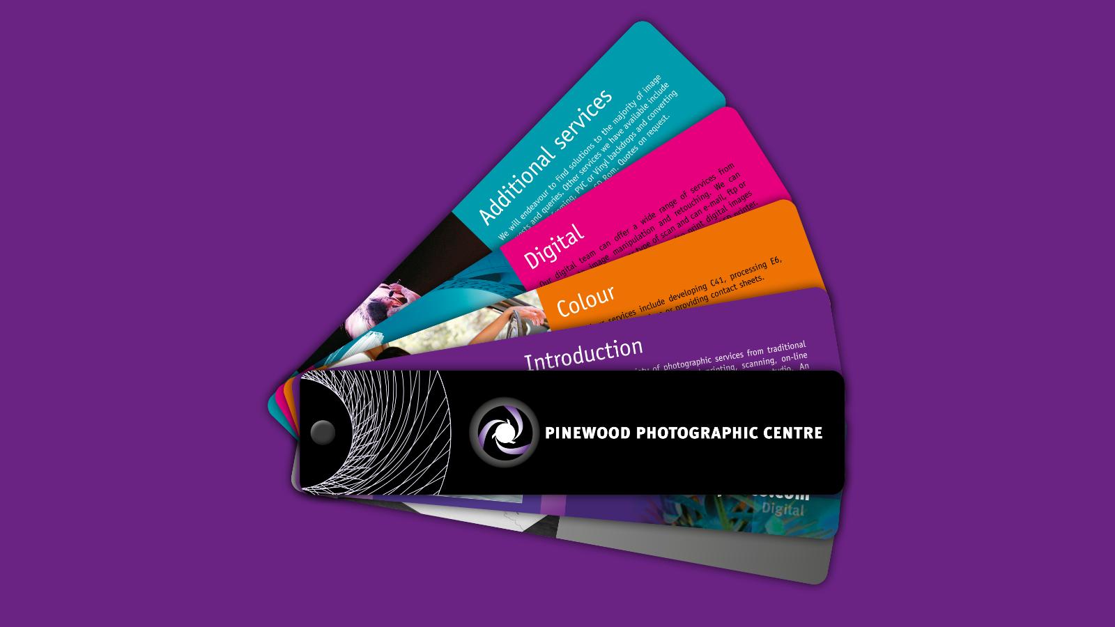 Pinewood Photographic Centre marketing swatch