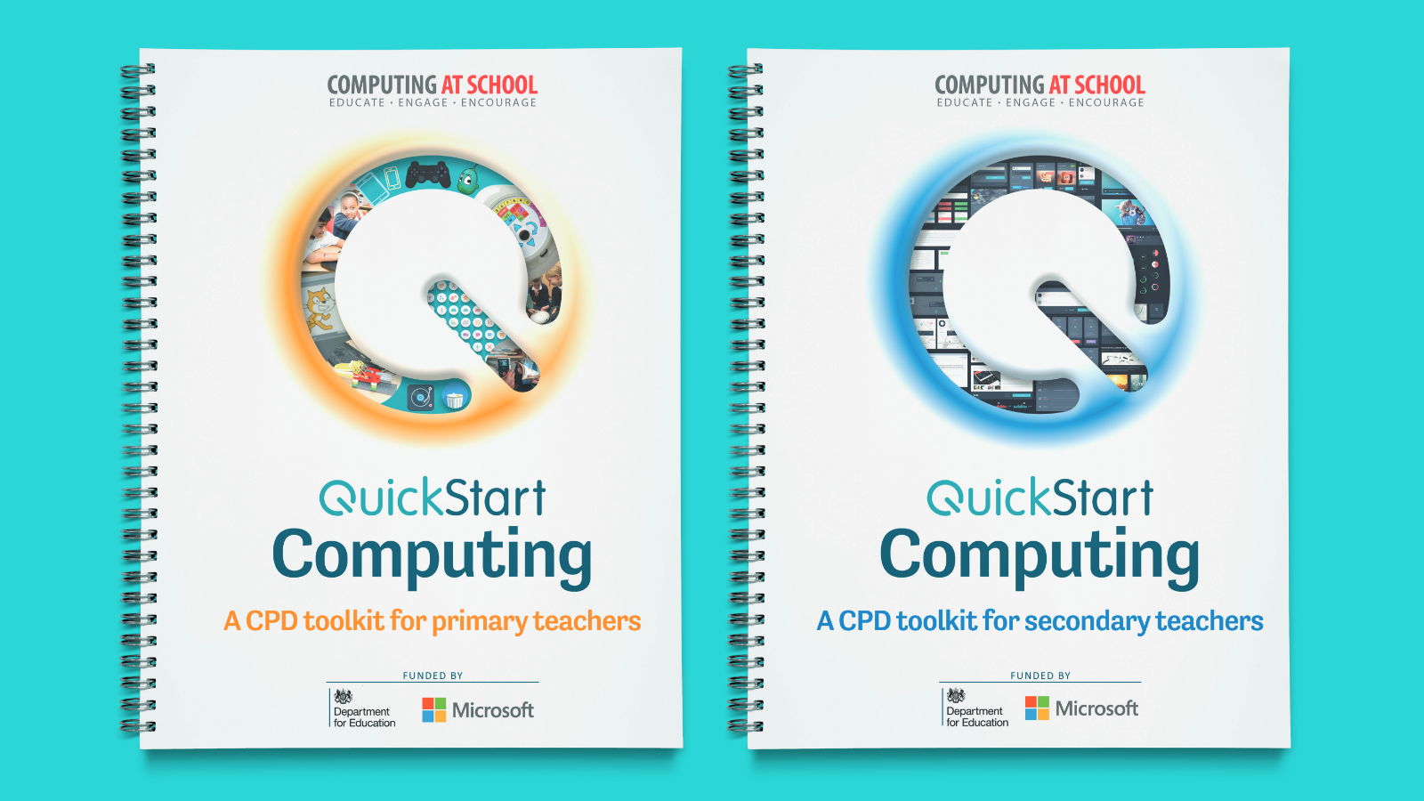 QuickStart cover designs for primary and secondary teaching
