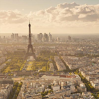 The city of Paris, which has one of the largest air pollution sensor networks.