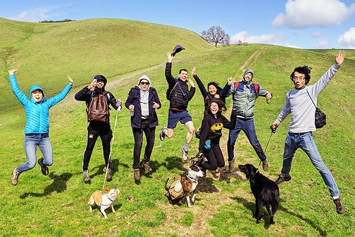 The Clarity air quality team on an outdoor hike.