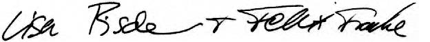 Lisa und Felix Fischer Unterschrift