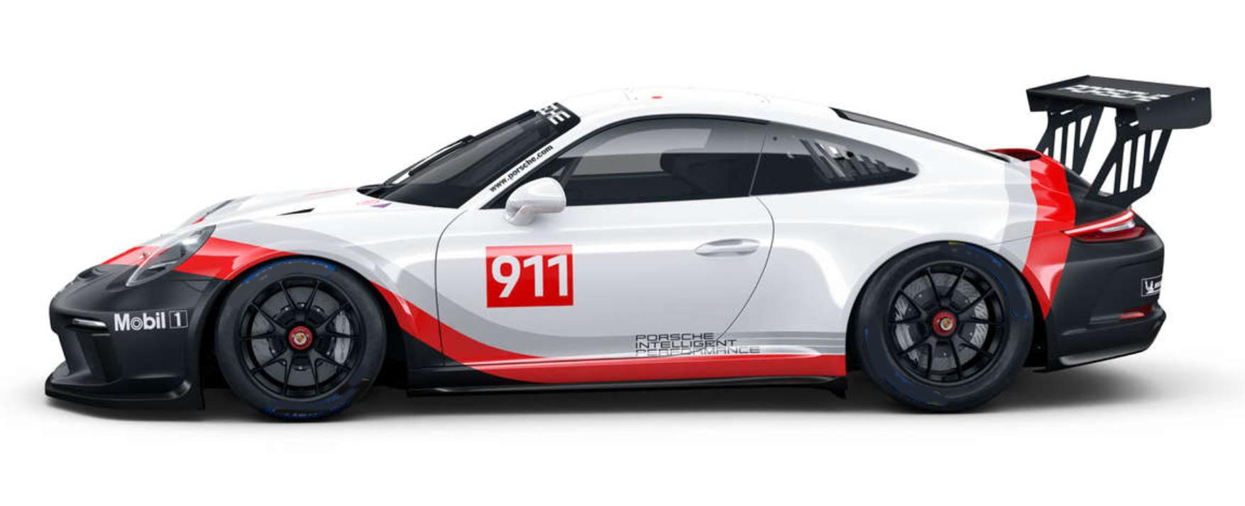 Porsche Sprint Challenge North America Platinum Class car