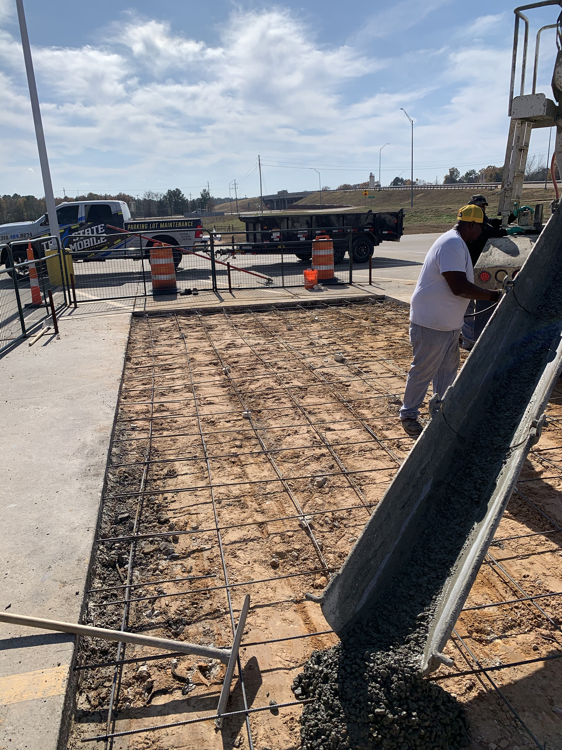 New Concrete being poured