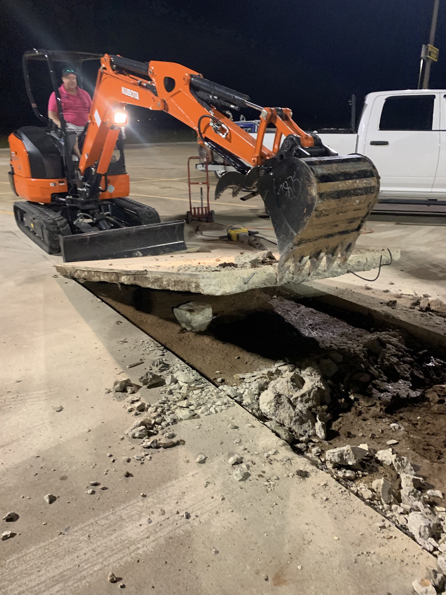Removing damaged concrete