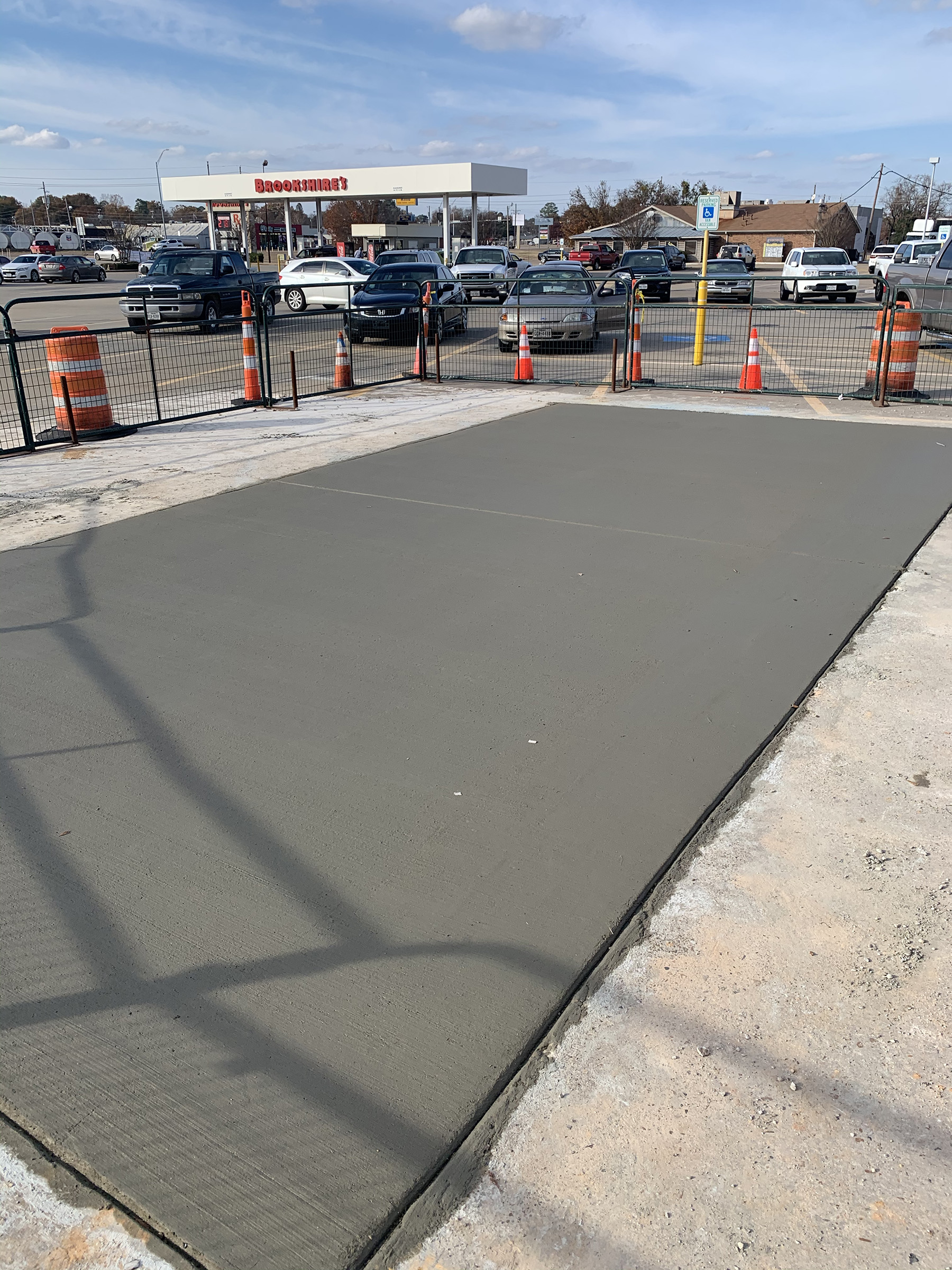New concrete slab