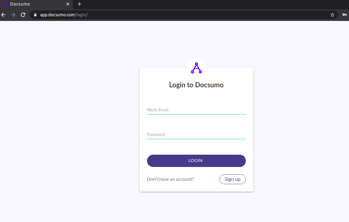 Login to Docsumo
