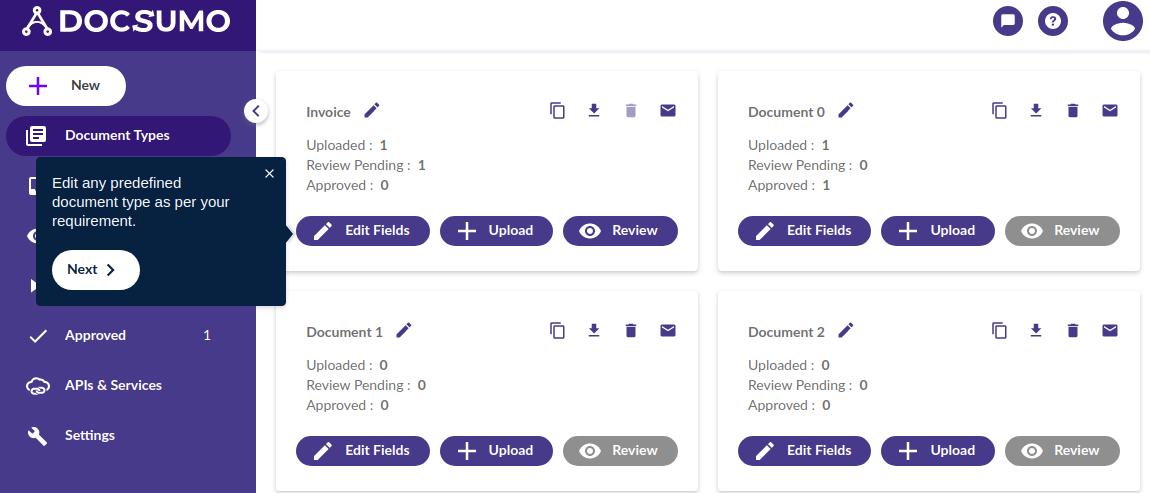 Edit fields