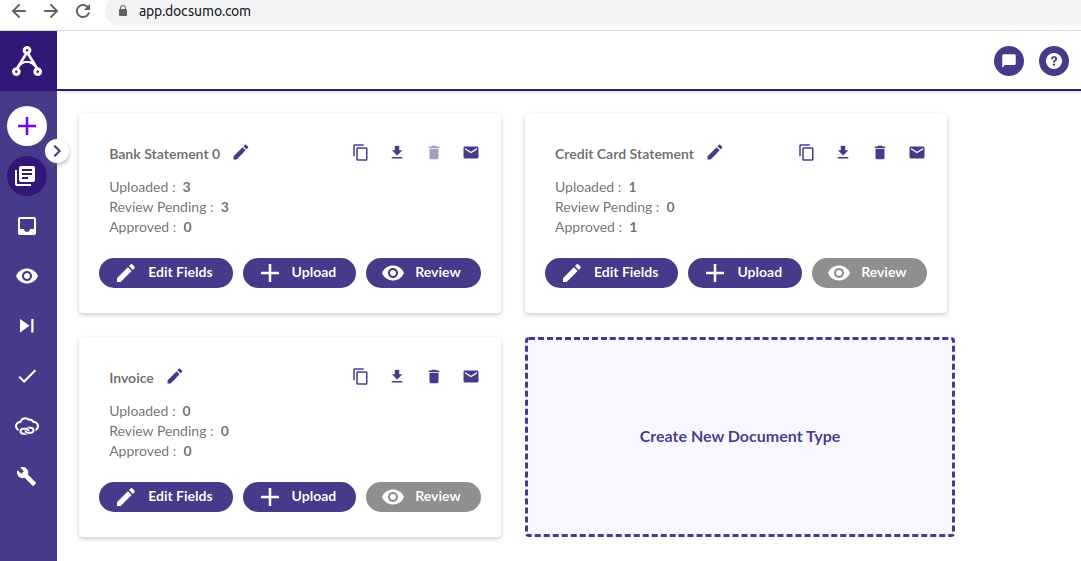 Create new document type