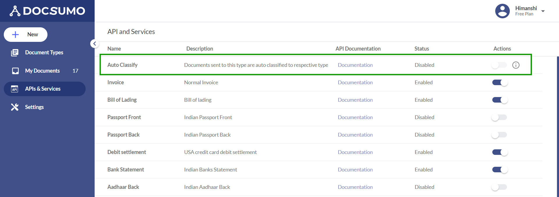 auto-classification of documents