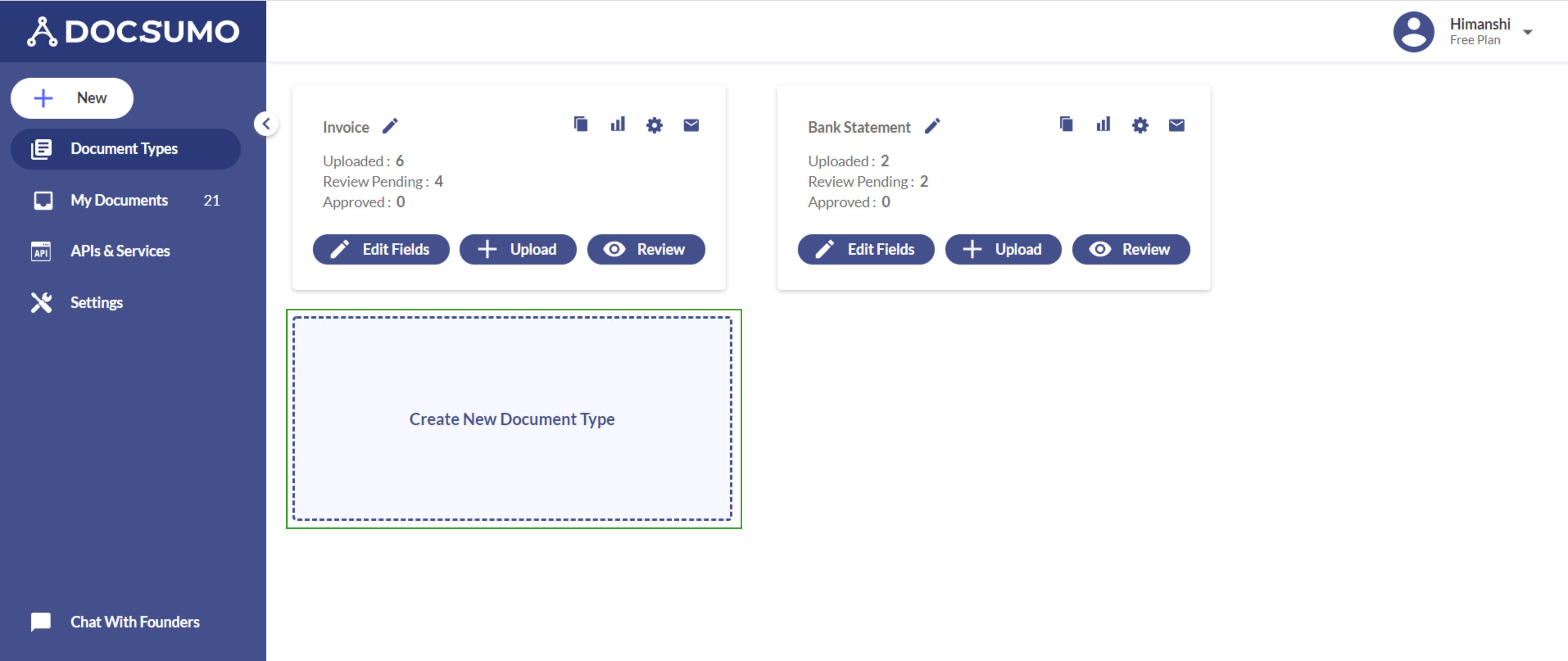 create document type