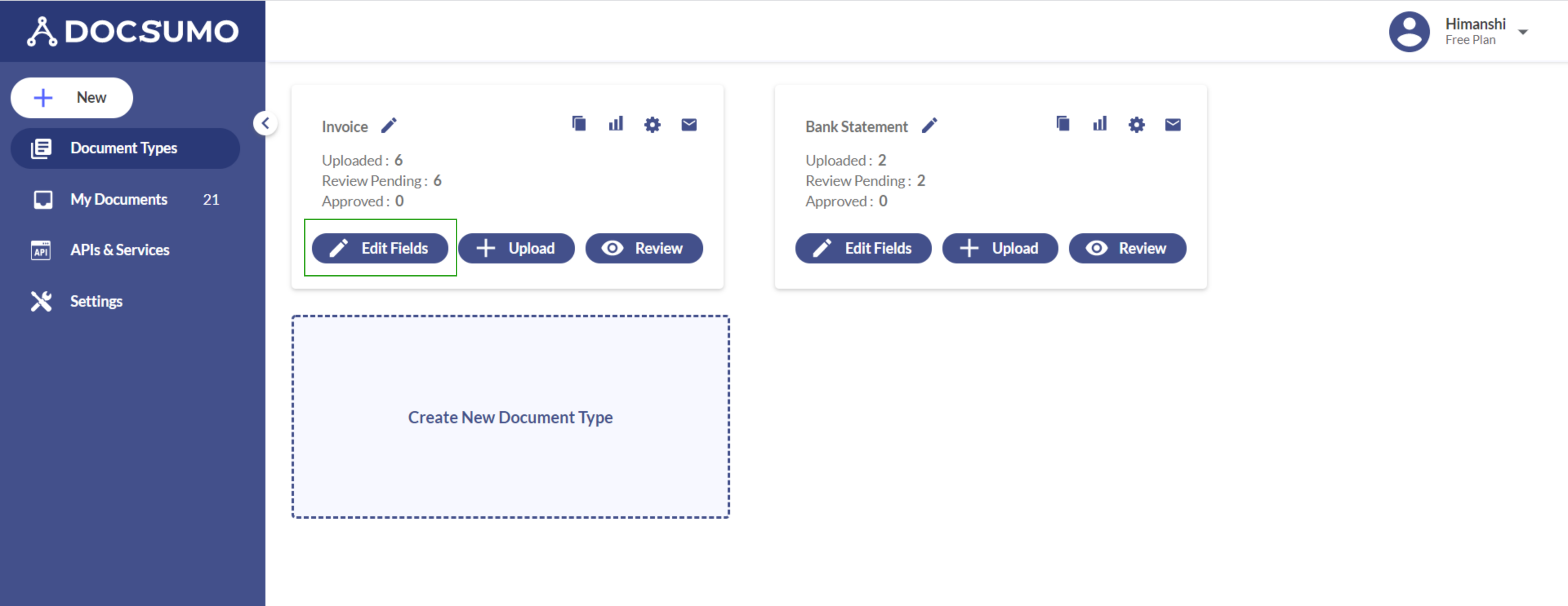 Document custom training