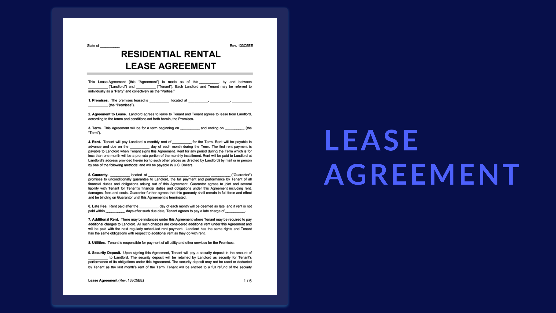 Lease Abstract Form