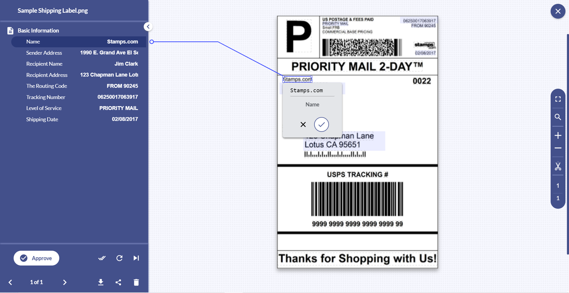 With Docsumo, free up your essential resources by automating shipping labels processing with 98% accuracy.