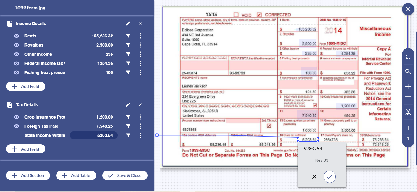 With Docsumo, free up your essential resources by automating 1099 form processing with 99% accuracy.