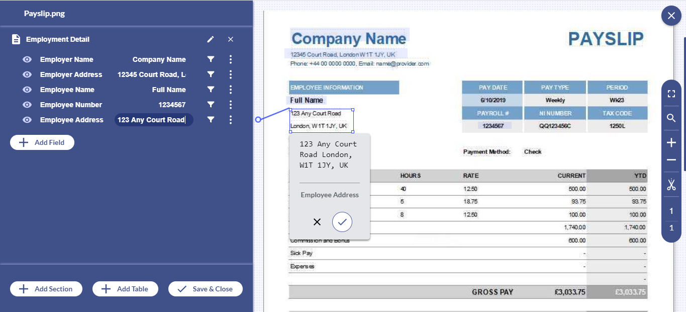 Simplify data extraction from salary slips and free-up your essential resources. Let's see how Docsumo makes it easier to organize data in a structured form from unstructured data sources.