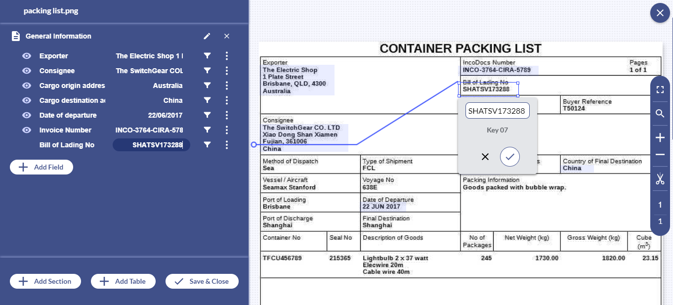 With Docsumo, free up your essential resources by automating packing list processing with 99% accuracy.