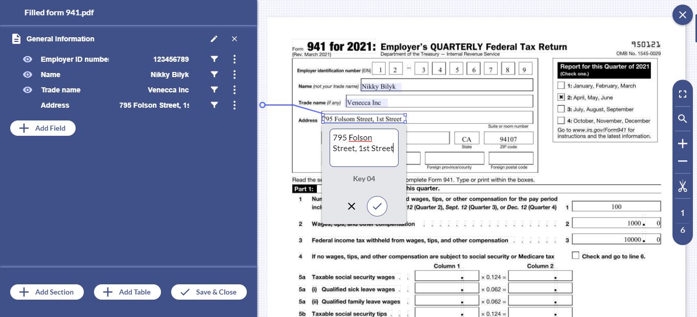 With Docsumo, free up your essential resources by automating form 941 processing with 98% accuracy.