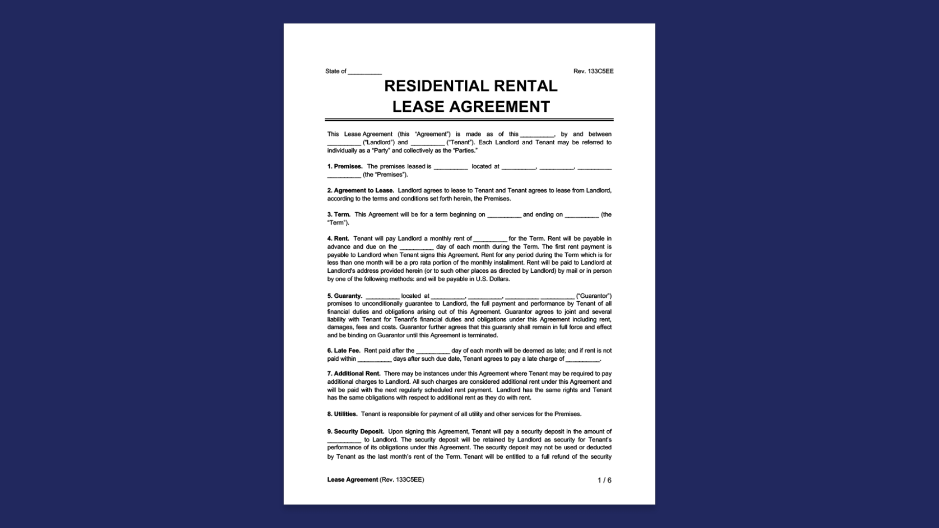 Lease Agreement Image Sample
