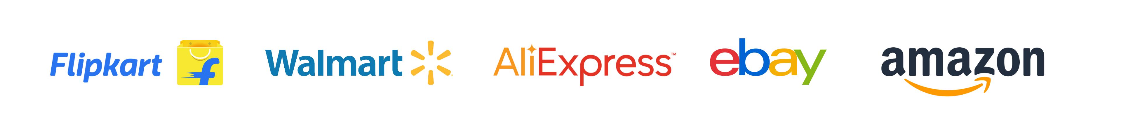Major e-commerce players logo