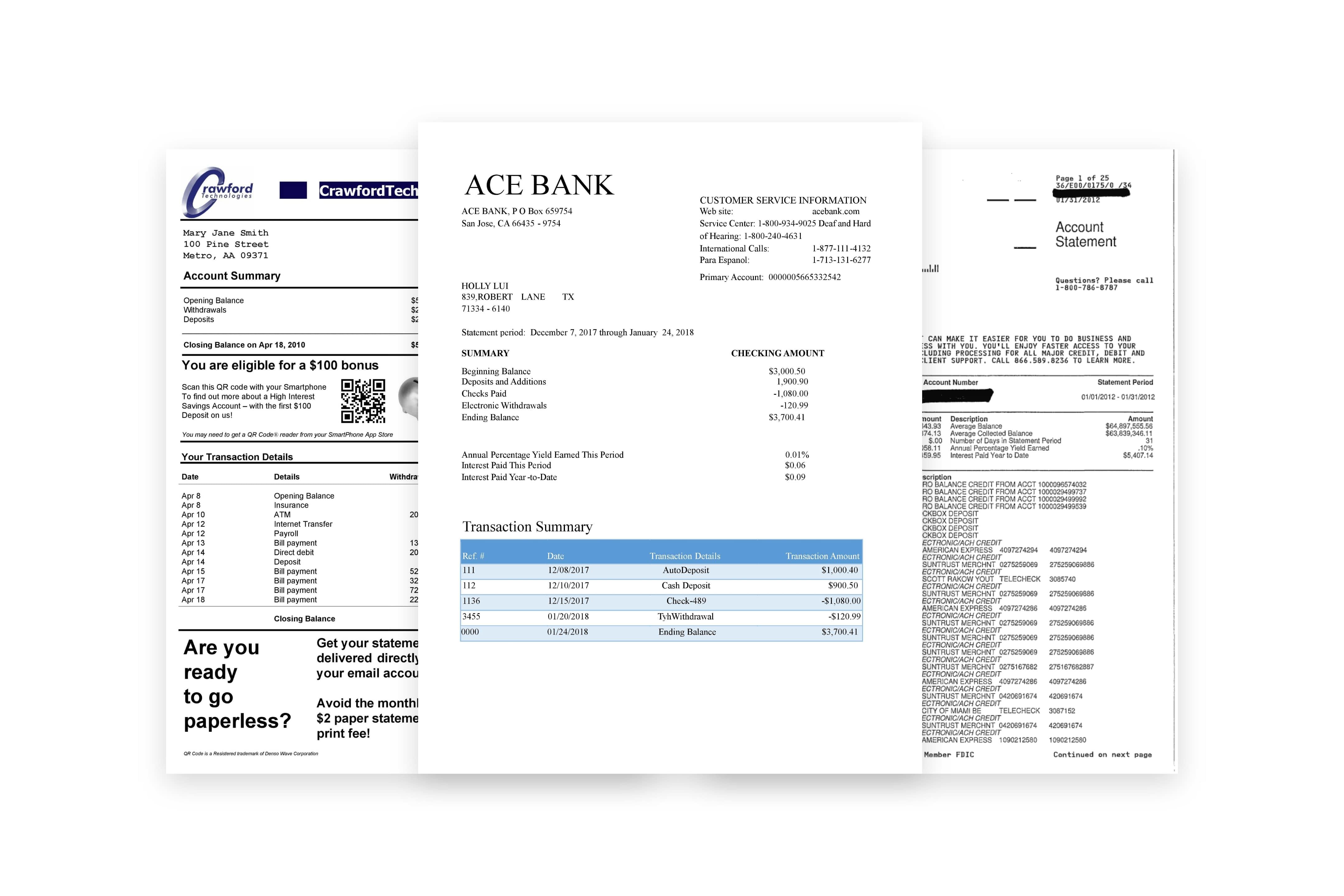 Bank Statement Processing