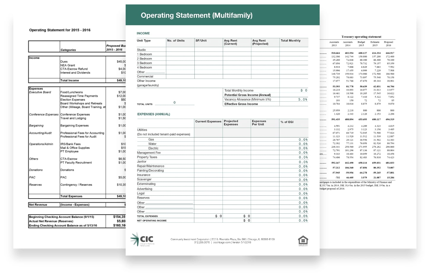 Operating Statement Processing
