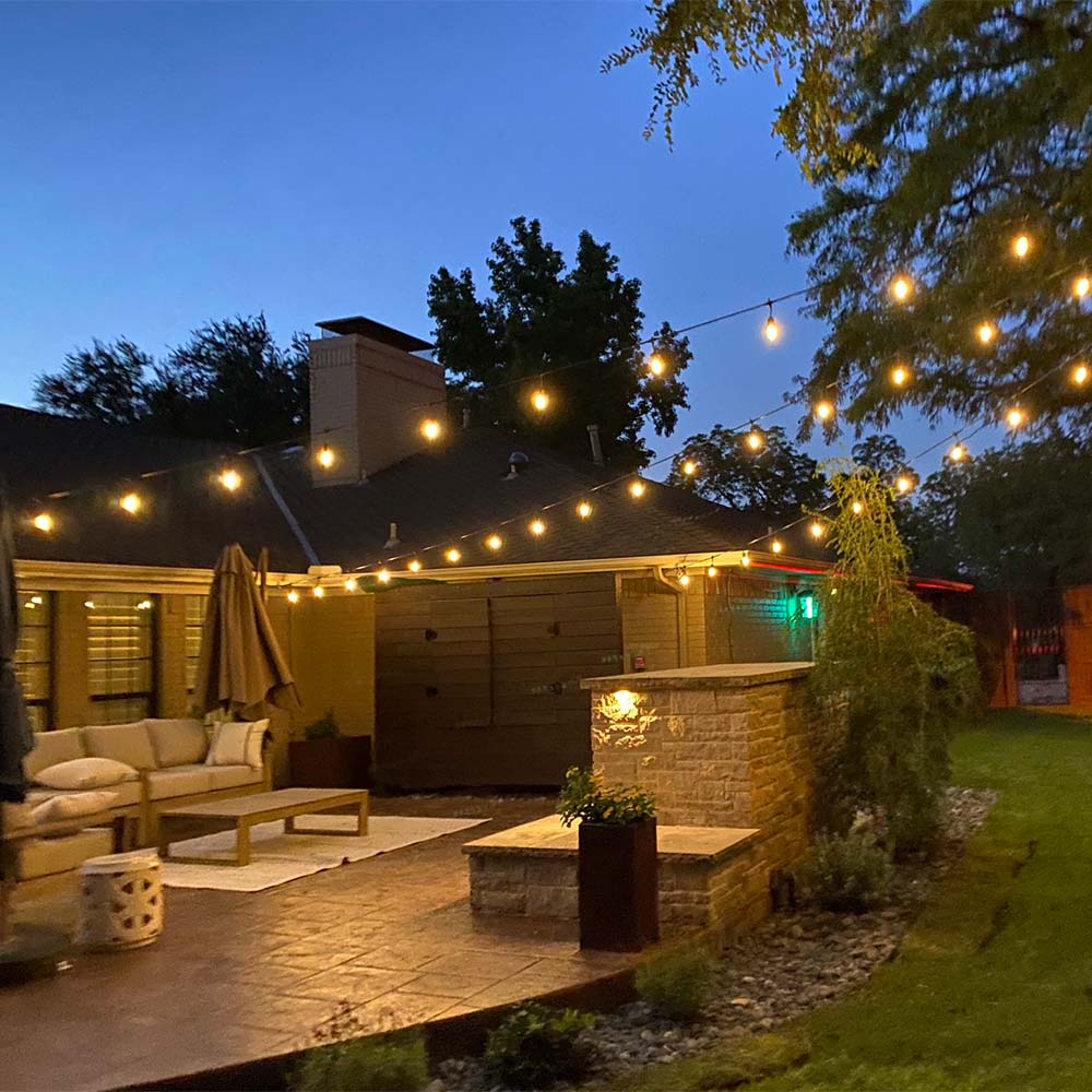 Patio lighting in Grand Prairie, TX