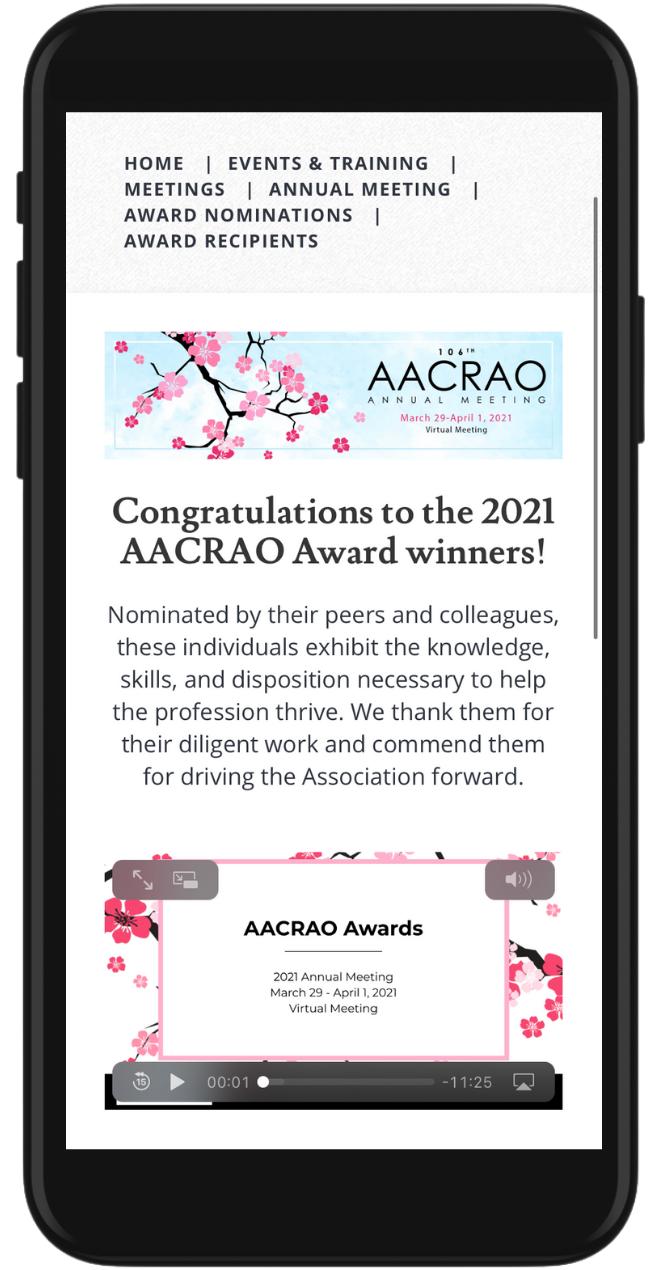 AACRAO Mobile Image
