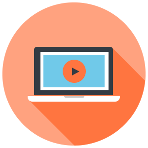 Laptop Video Icon