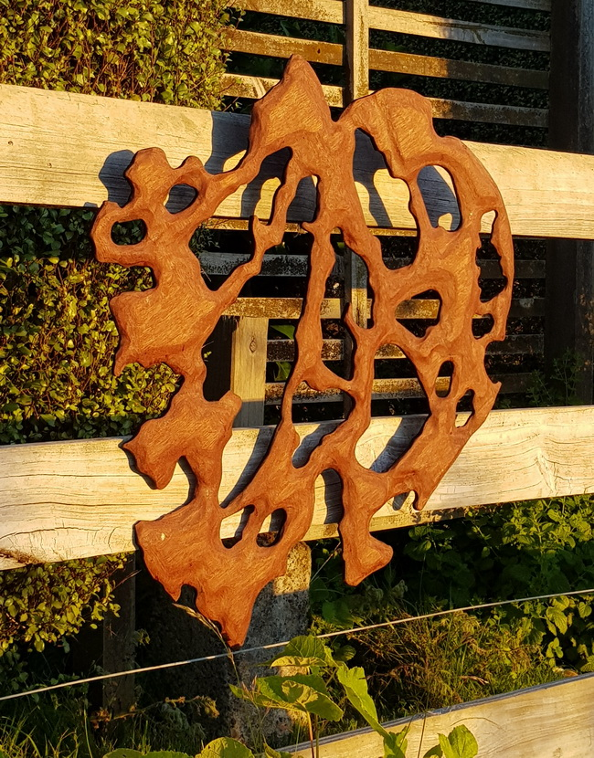 Kawakawa leaf sculpture