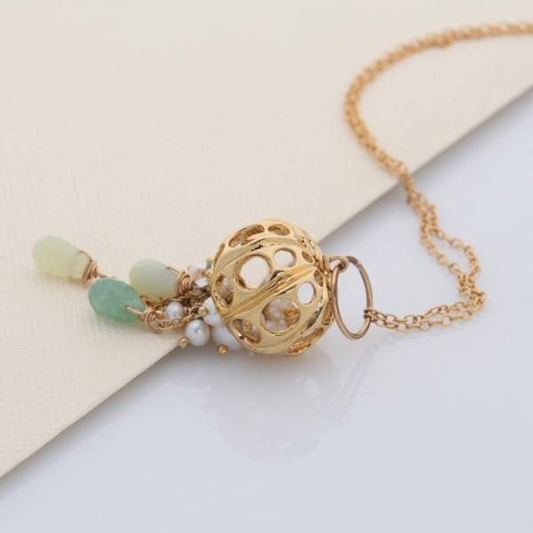 Gold Jellyfish Necklace
