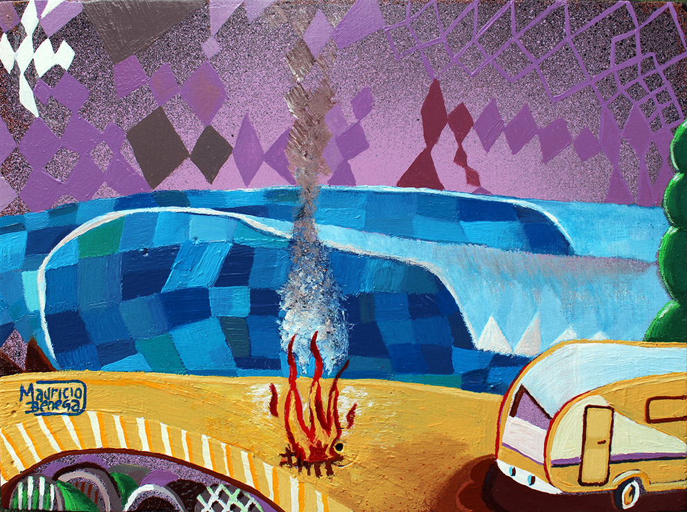 Deep Purple on fire