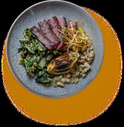 Eat Purely steak dinner