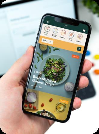 iphone using Eat Purely app