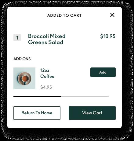 Eat Purely app cart