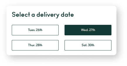 Eat Purely app delivery date