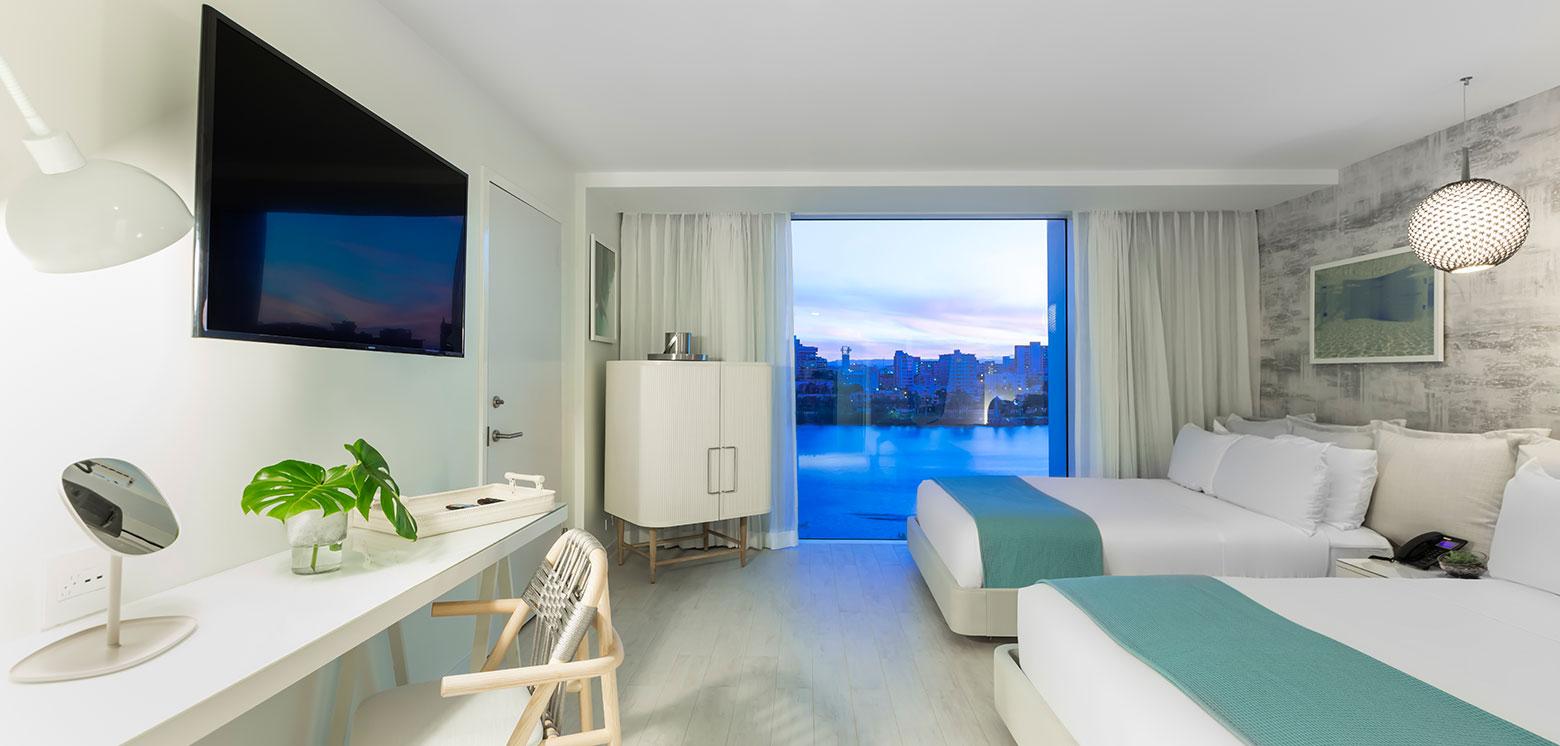 Room with ocean views at the Condado Ocean Club