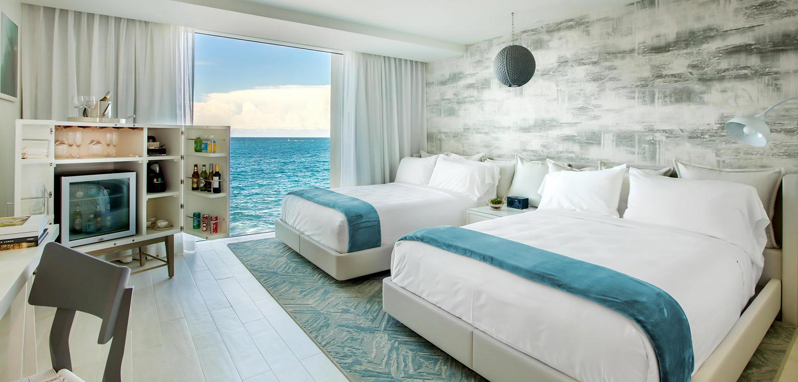 Room with ocean views at the Condado Ocean Club