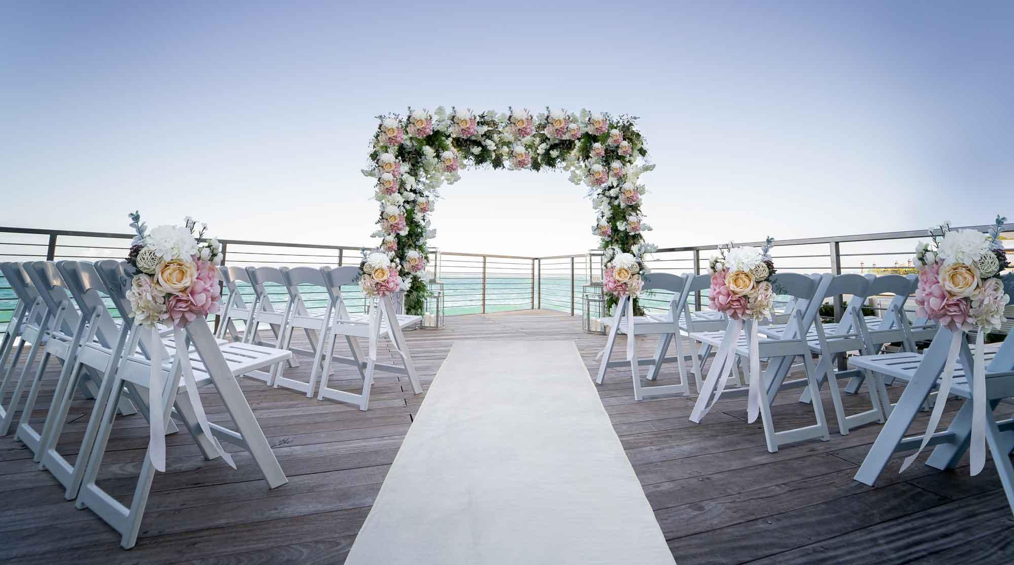 An outdoor wedding venue at the Condado Ocean Club