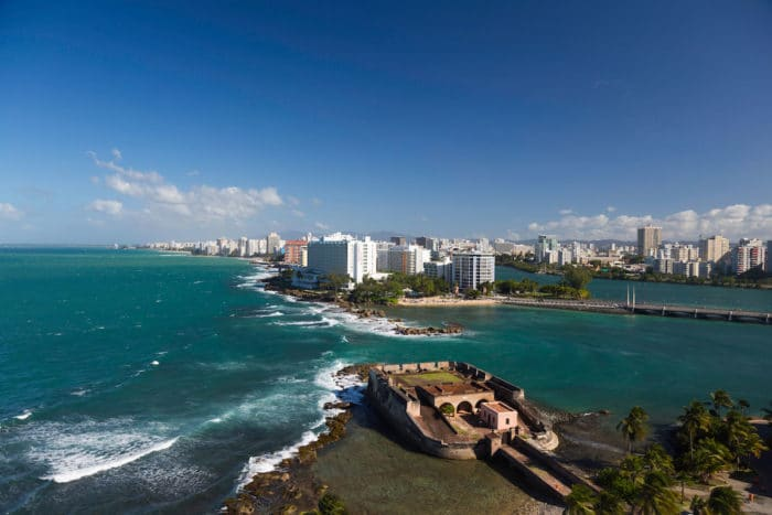 A fort on the point in San Juan
