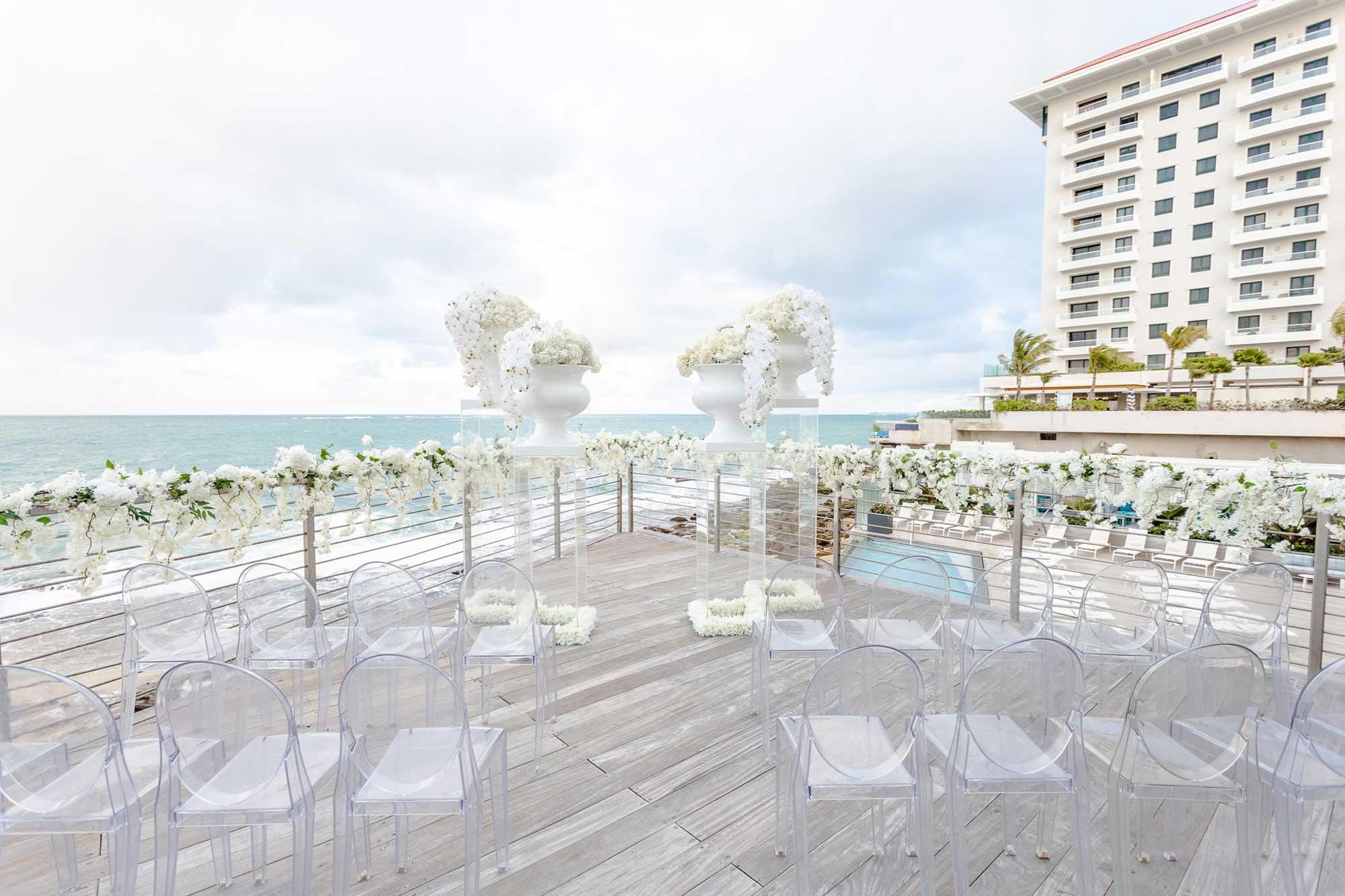 Outdoor wedding venue at Condado Ocean Club