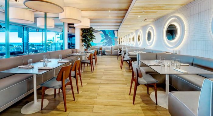Indoor dining area at the Condado Ocean Club