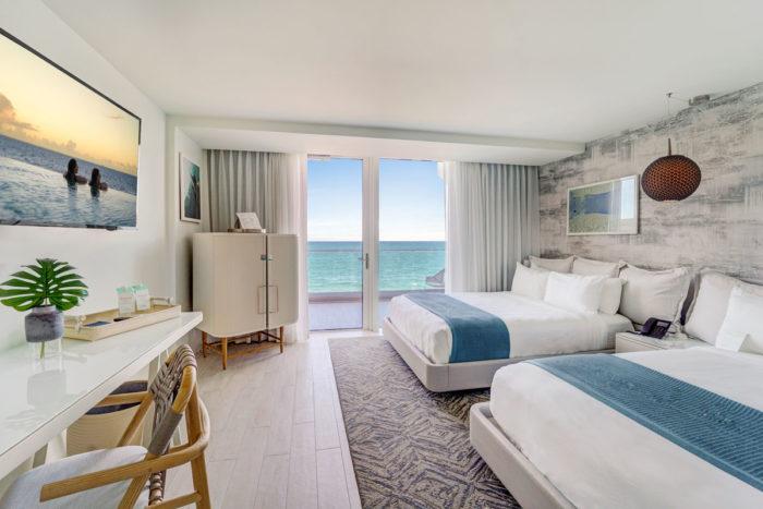 A room with ocean views at the Condado Ocean Club