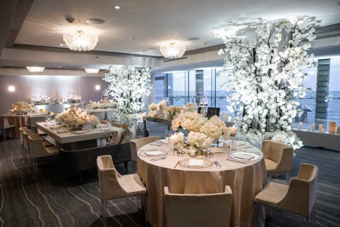A dining area within the Condado Ocean Club with ocean views