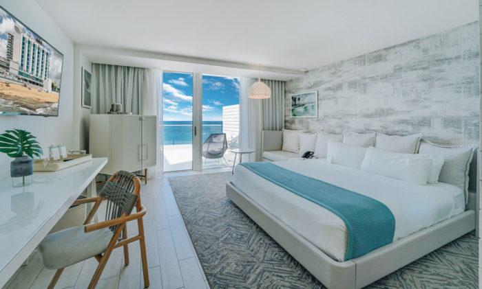 A suite with ocean views at Condado Ocean Club