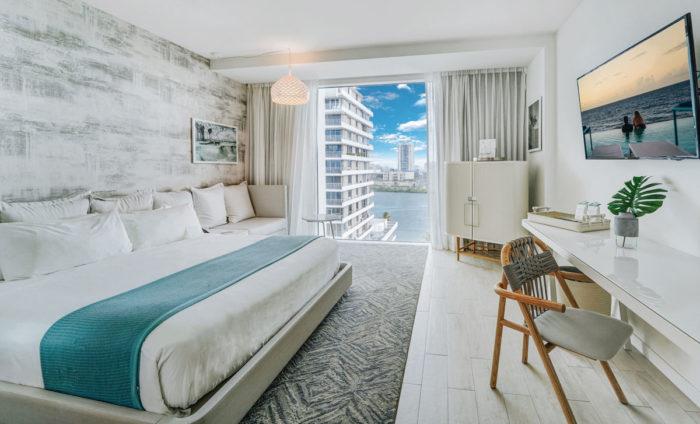 A suite with city view at Condado Ocean Club